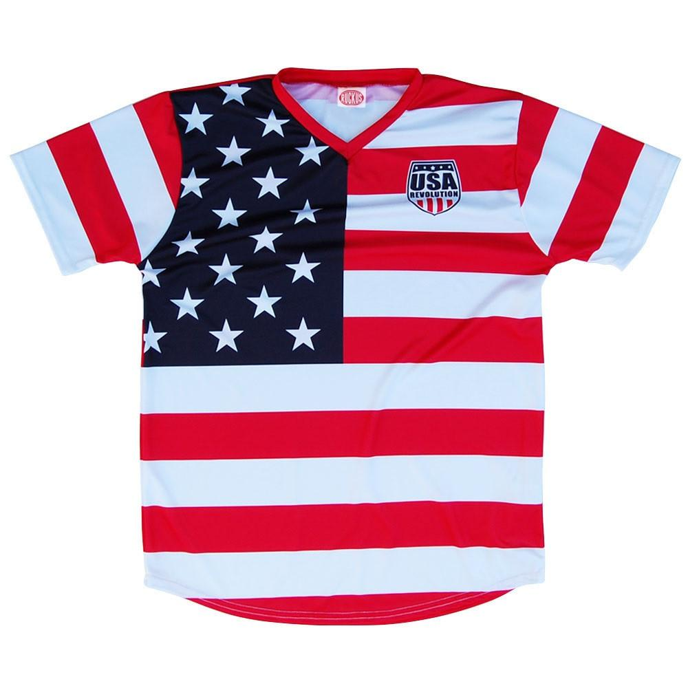 USA Revolution Jersey in Red by RUCKUS RUGBY