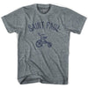 Saint Paul City Tricycle Adult Tri-Blend V-neck Womens T-shirt by Ultras
