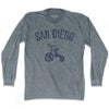 San Diego City Tricycle Adult Tri-Blend Long Sleeve T-shirt by Ultras