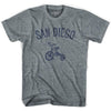 San Diego City Tricycle Adult Tri-Blend V-neck Womens T-shirt by Ultras