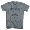 Savannah City Tricycle Adult Tri-Blend V-neck Womens T-shirt by Ultras