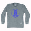 Sheffield Wednesday Owl Crest Soccer Long-Sleeve T-shirt in Athletic Grey by Ultras