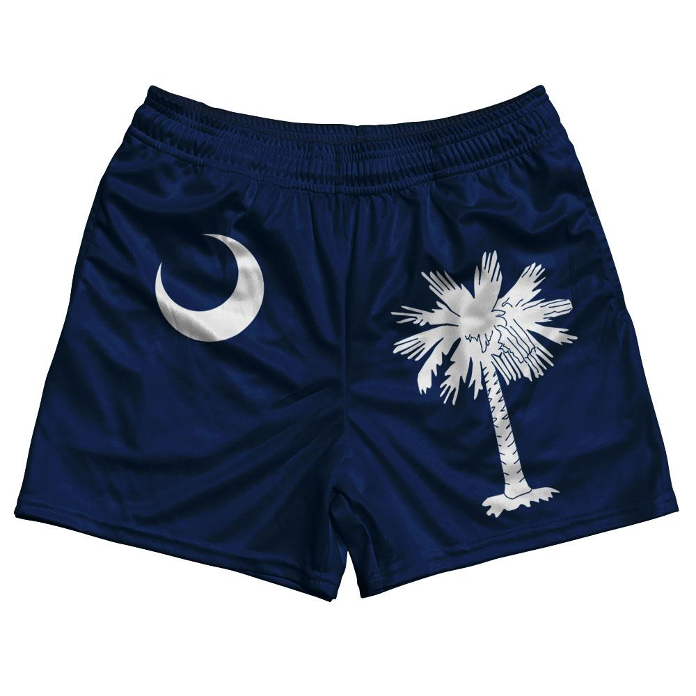 South Carolina State Flag Rugby Shorts Made In USA by Ruckus