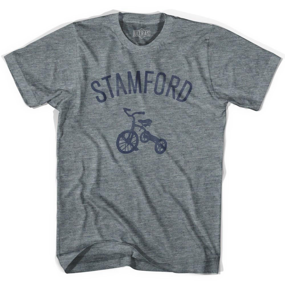Stamford City Tricycle Adult Tri-Blend V-neck Womens T-shirt by Ultras