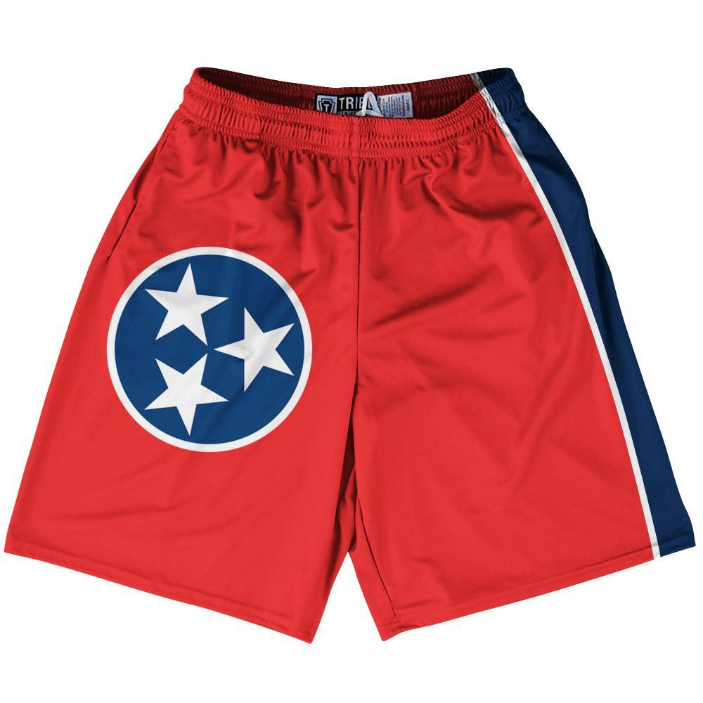 "Tennessee State Flag 9"" Inseam Lacrosse Shorts by Tribe Lacrosse"