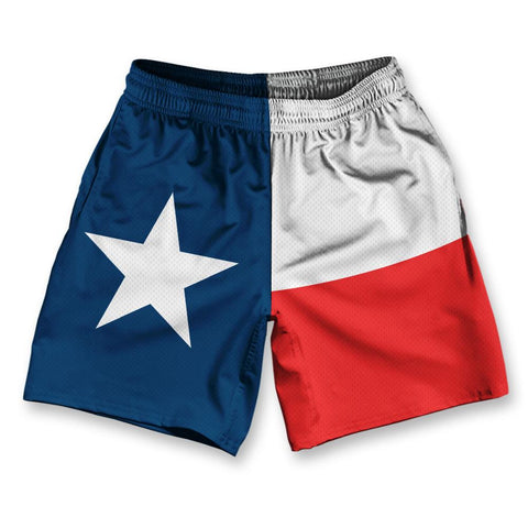 "Texas State Flag Athletic Running Fitness Exercise Shorts 7"" Inseam"