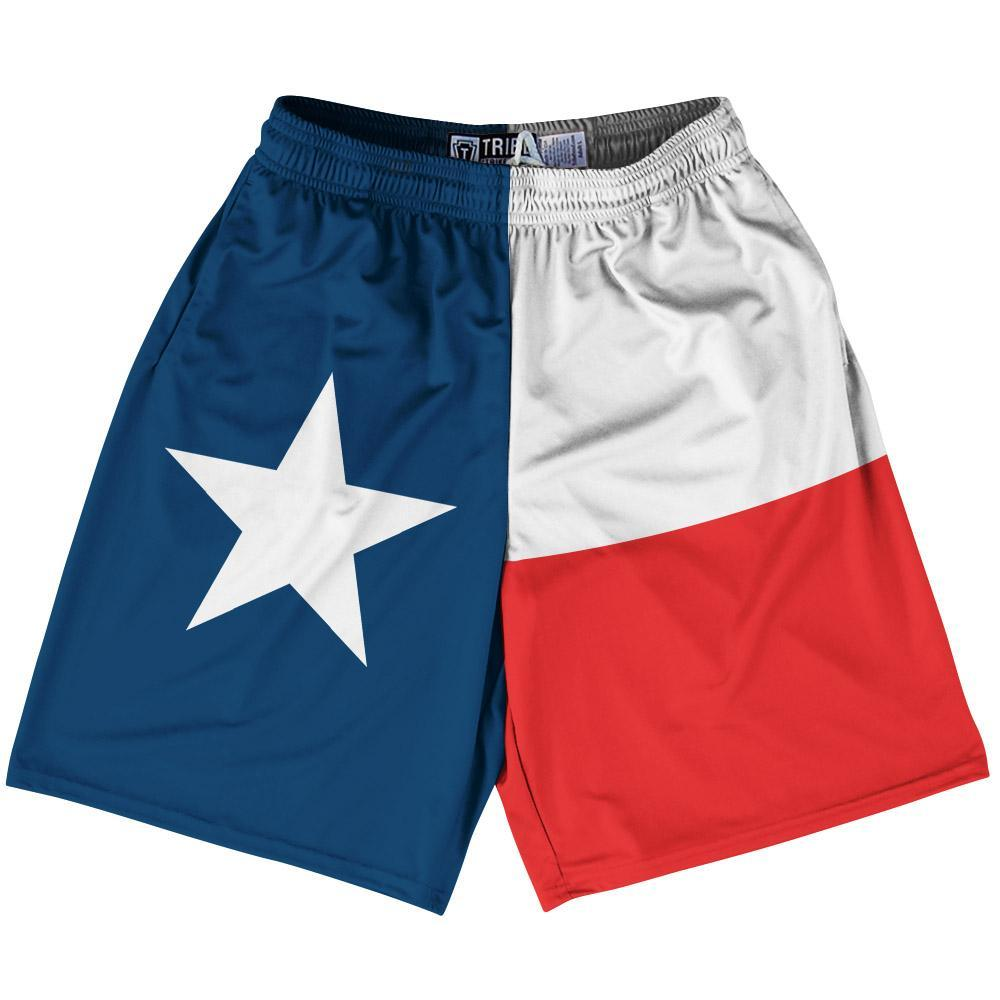 "Texas State Flag 9"" Inseam Lacrosse Shorts by Tribe Lacrosse"