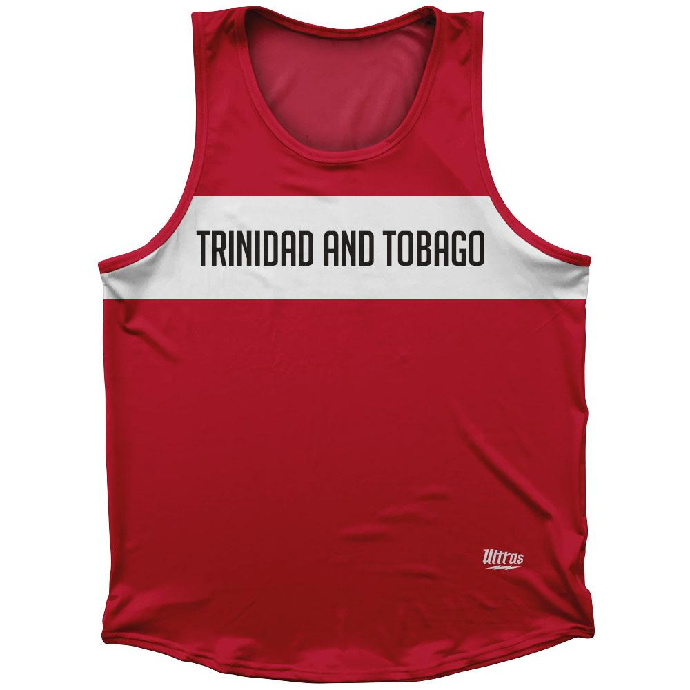 Trinidad and Tobago Country Finish Line Athletic Sport Tank Top Made In USA by Ultras