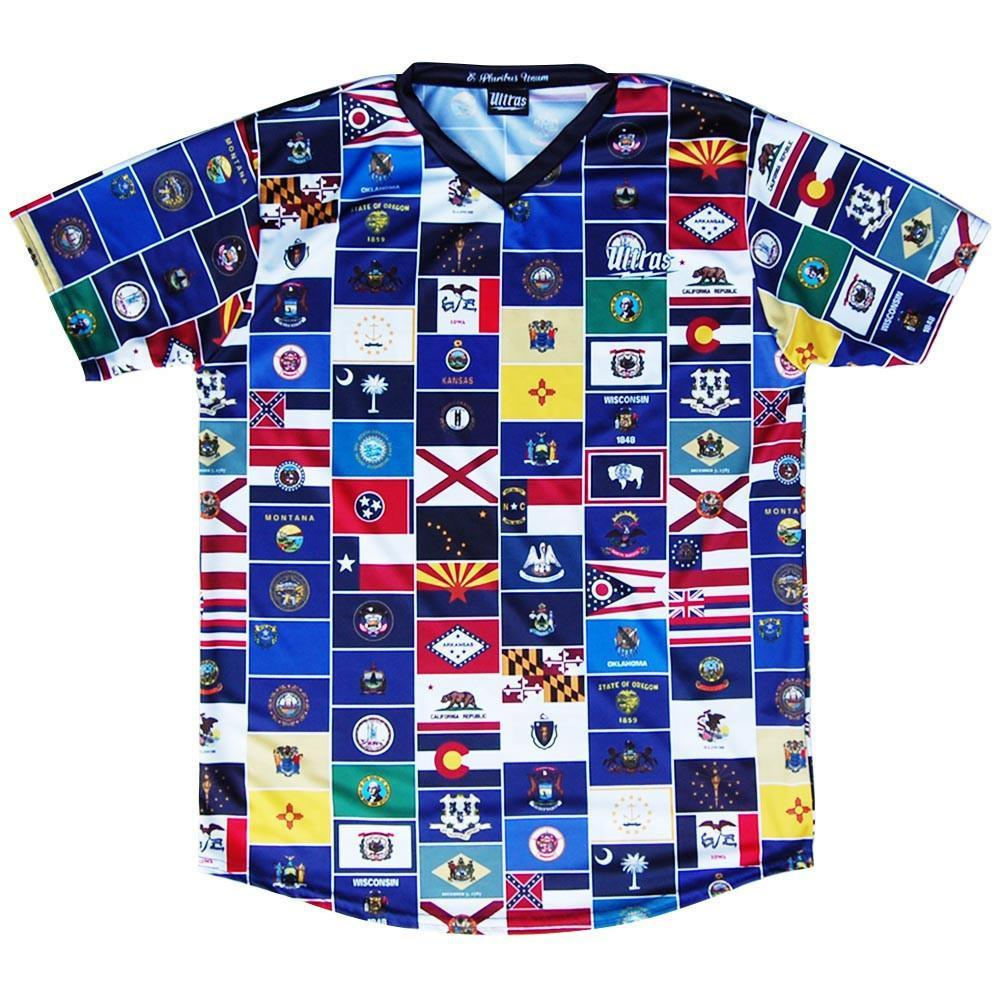 USA America States Soccer Jersey in Multi by Ultras