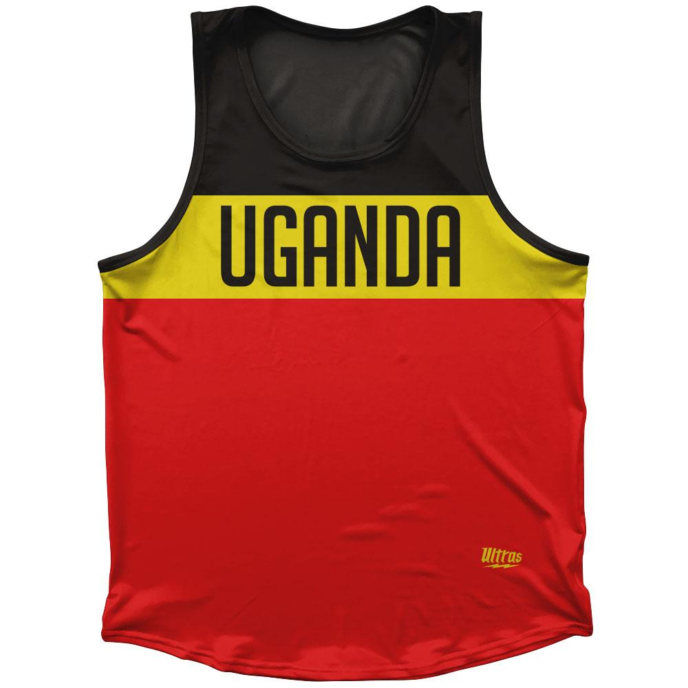 Uganda Country Finish Line Athletic Sport Tank Top Made In USA by Ultras