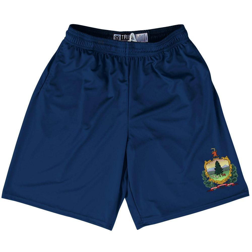 "Vermont State Flag 9"" Inseam Lacrosse Shorts by Tribe Lacrosse"