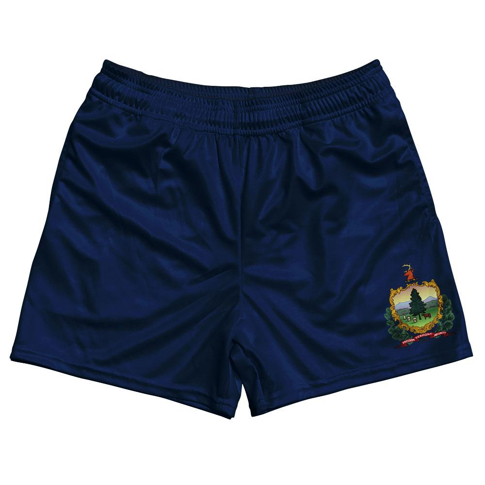 Vermont State Flag Rugby Shorts Made In USA by Ruckus