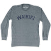 Waikiki City Vintage Long Sleeve T-Shirt in Athletic Grey by Mile End Sportswear