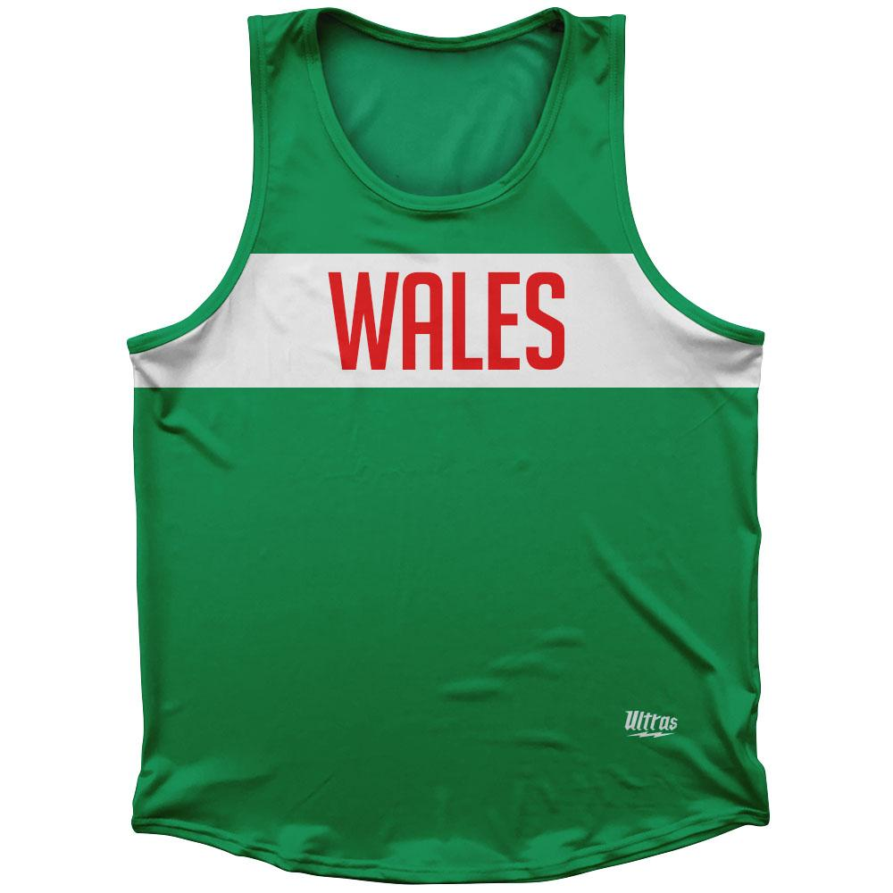 Wales Country Finish Line Athletic Sport Tank Top Made In USA by Ultras