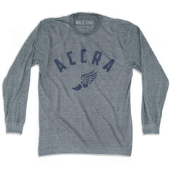 Accra Track long sleeve T-shirt in Athletic Grey by Mile End Sportswear