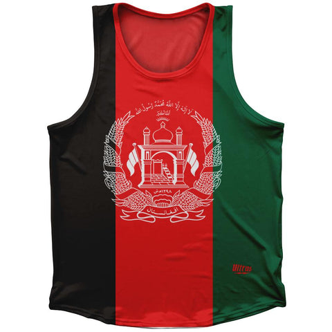 Afghanistan Country Flag Athletic Sport Tank Top Made In USA