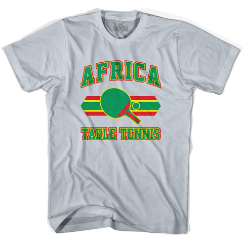 Africa Table Tennis Adult Cotton T-Shirt