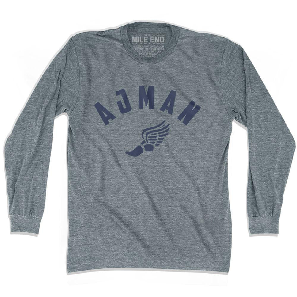 Ajman Track long sleeve T-shirt in Athletic Grey by Mile End Sportswear