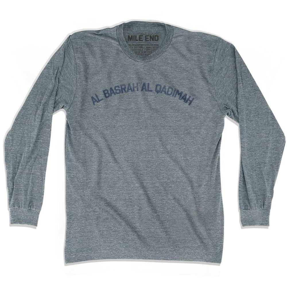 Al Basrah al Qadimah Vintage T-shirt Long Sleeve in Athletic Grey by Mile End Sportswear