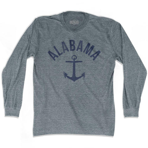 Alabama State Anchor Home Tri-Blend Adult Long Sleeve T-shirt