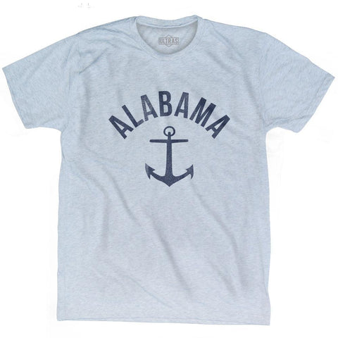 Alabama State Anchor Home Tri-Blend Adult T-shirt