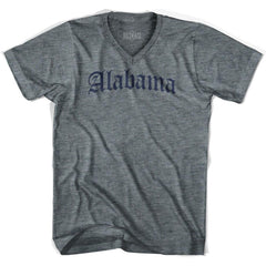 Alabama Old Town Font V-neck T-shirt by Ultras