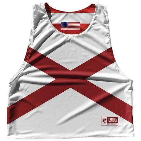 Alabama State Flag and American Flag Reversible Lacrosse Pinnie