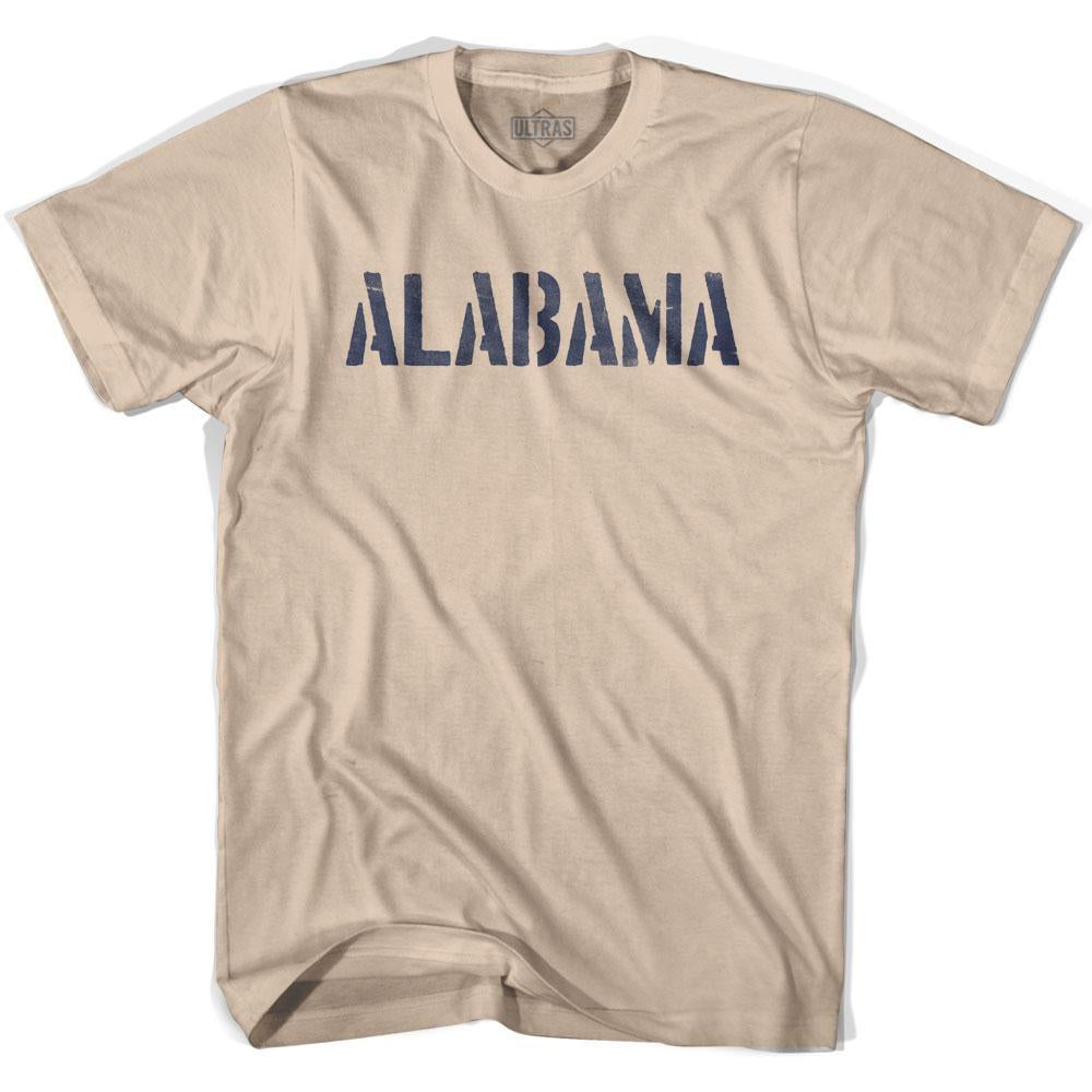 Alabama State Stencil Adult Cotton T-shirt by Ultras