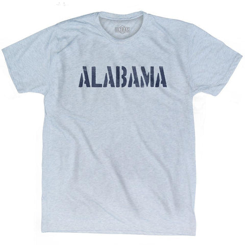 Alabama State Stencil Adult Tri-Blend T-shirt