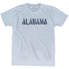 Alabama State Stencil Adult Tri-Blend T-shirt by Ultras