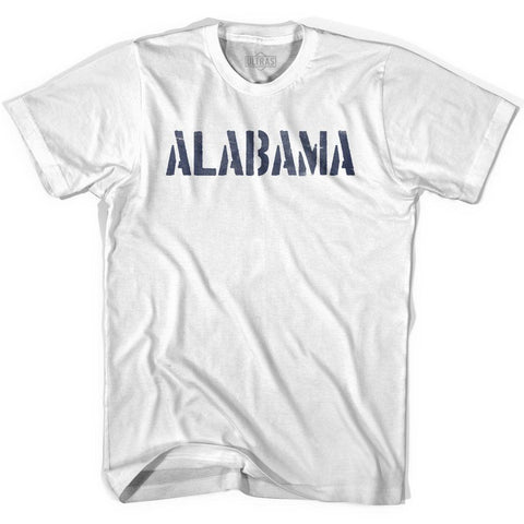 Alabama State Stencil Womens Cotton T-shirt