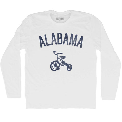Alabama State Tricycle Adult Cotton Long Sleeve T-shirt