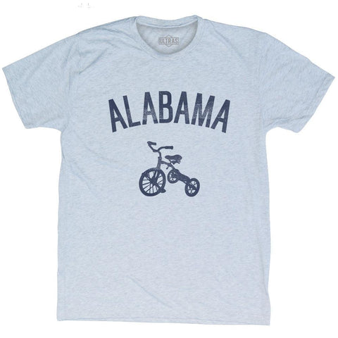 Alabama State Tricycle Adult Tri-Blend T-shirt