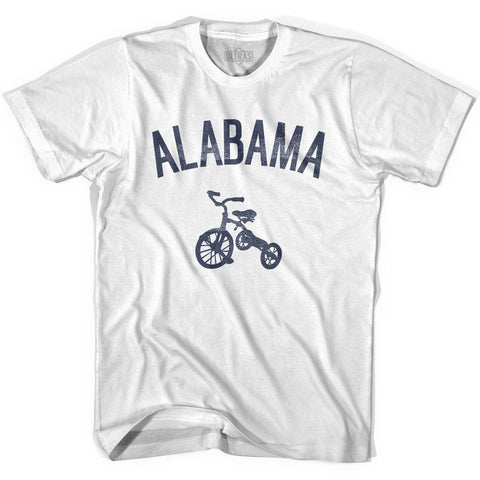Alabama State Tricycle Womens Cotton T-shirt