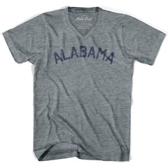 Alabama City Vintage V-neck T-shirt in Athletic Grey by Mile End Sportswear