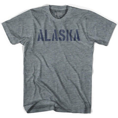 Alaska State Stencil Youth Tri-Blend T-shirt by Ultras