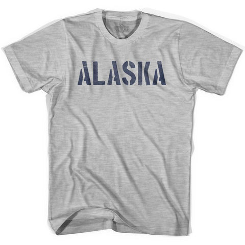 Alaska State Stencil Adult Cotton T-shirt