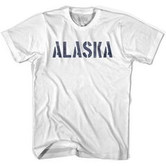 Alaska State Stencil Womens Cotton T-shirt by Ultras