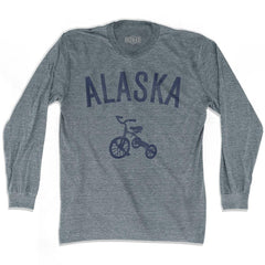 Alaska State Tricycle Adult Tri-Blend Long Sleeve T-shirt by Ultras