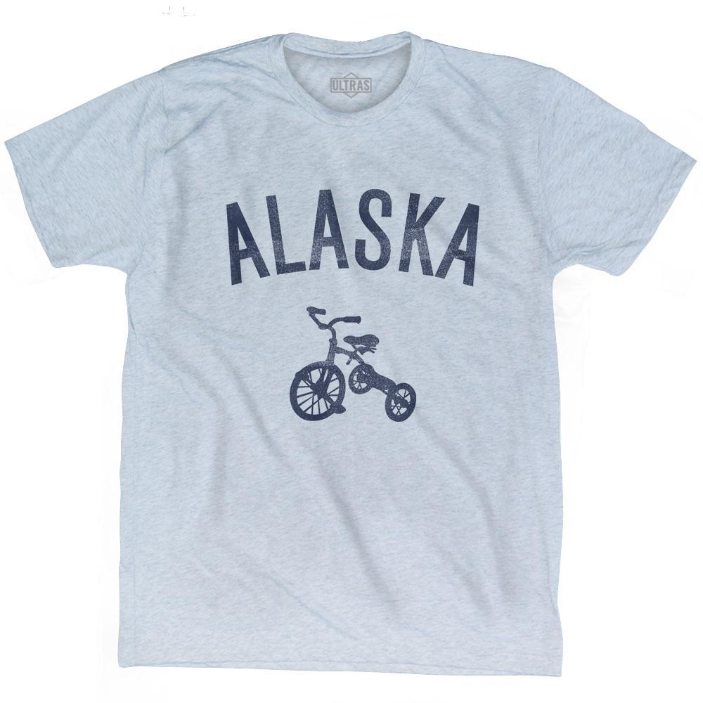 Alaska State Tricycle Adult Tri-Blend T-shirt by Ultras