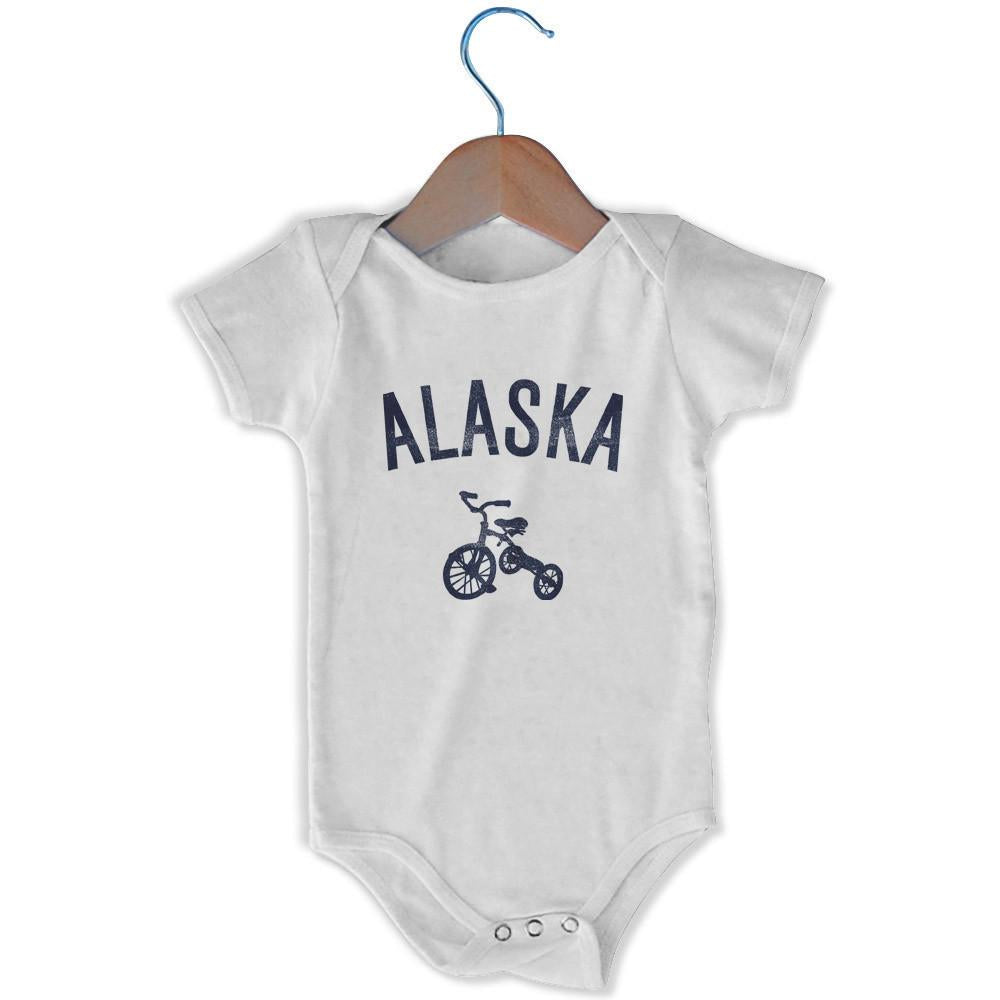 Alaska Tricycle Infant Onesie in White by Mile End Sportswear