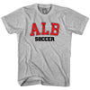 Albania ALB Soccer Country Code T-shirt in White by Neutral FC