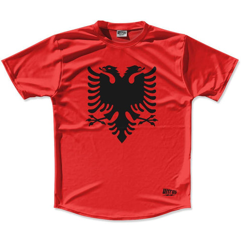Albania Country Flag Running Shirt Track Cross Country Performance Top Made In USA