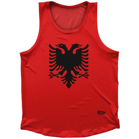 Albania Country Flag Athletic Sport Tank Top Made In USA
