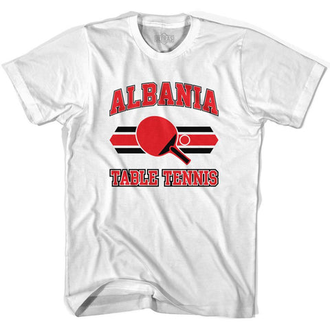 Albania Table Tennis Womens Cotton T-shirt