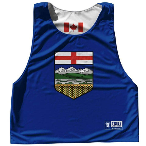 Alberta Province Flag and Canada Flag Reversible Lacrosse Pinnie