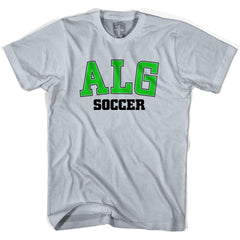 Algeria ALG Soccer Country Code T-shirt in White by Neutral FC