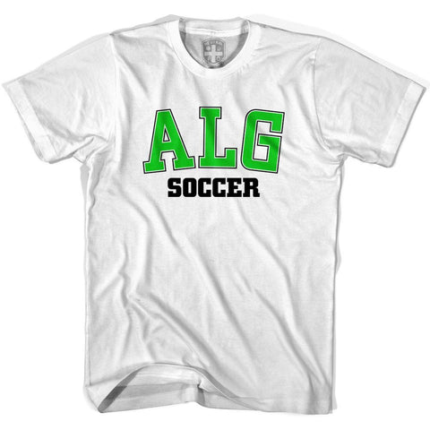 Algeria ALG Soccer Country Code T-shirt-Adult
