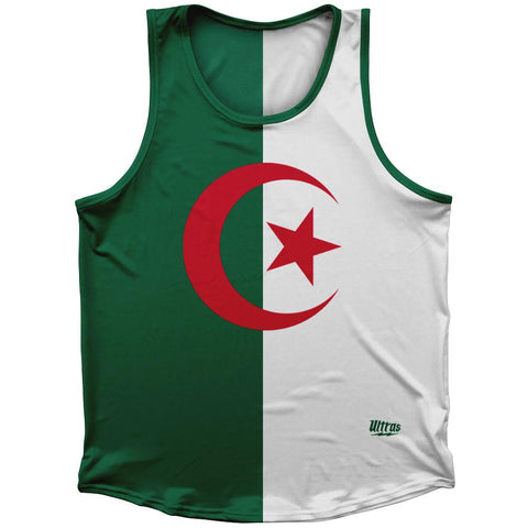 Algeria Country Flag Athletic Sport Tank Top Made In USA