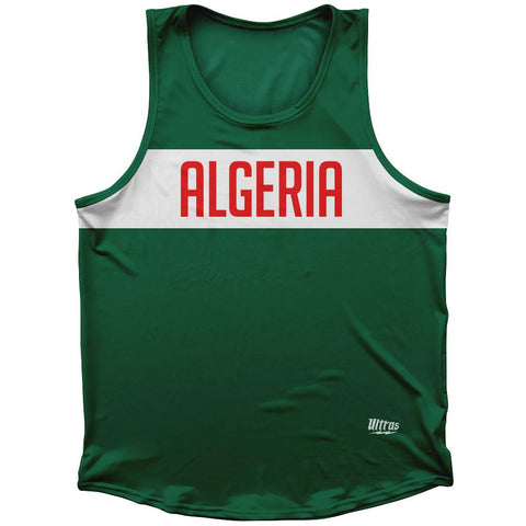 Algeria Country Finish Line Athletic Sport Tank Top Made In USA